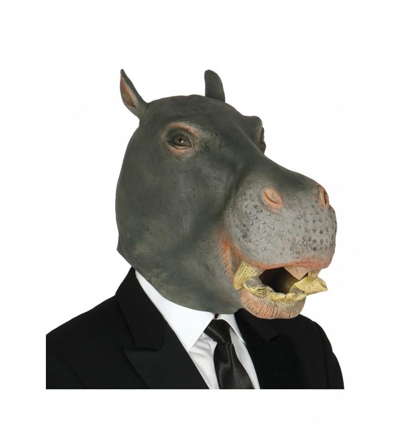 Máscara de hipopótamo gris