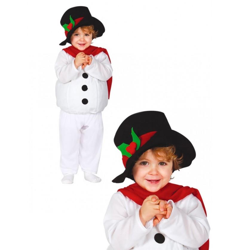 Disfraz de muñeco de nieve tierno para bebé