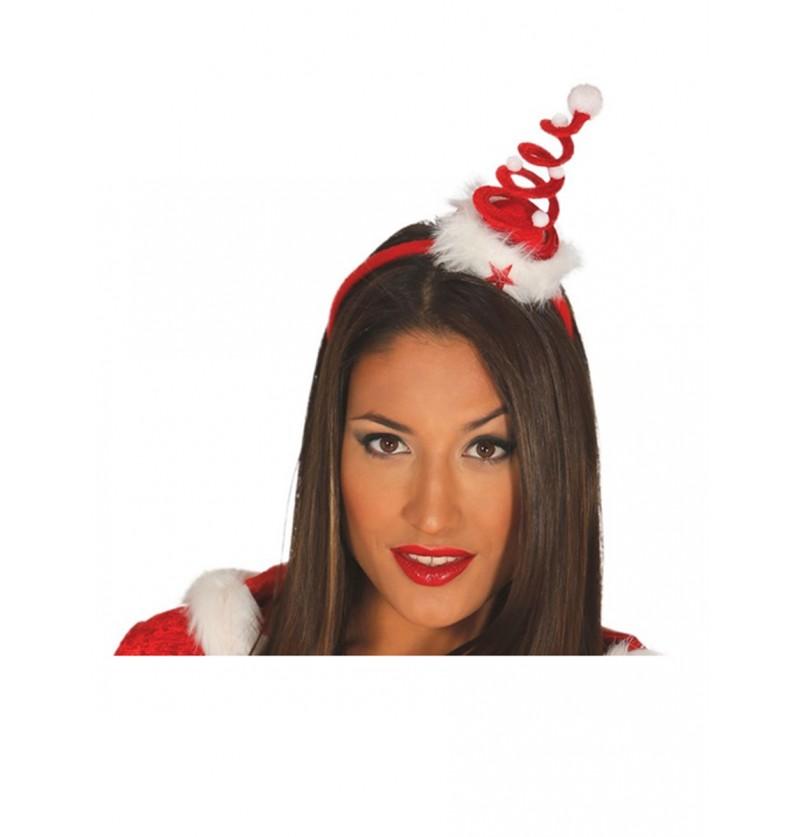 Diadema de árbol de navidad espiral para mujer