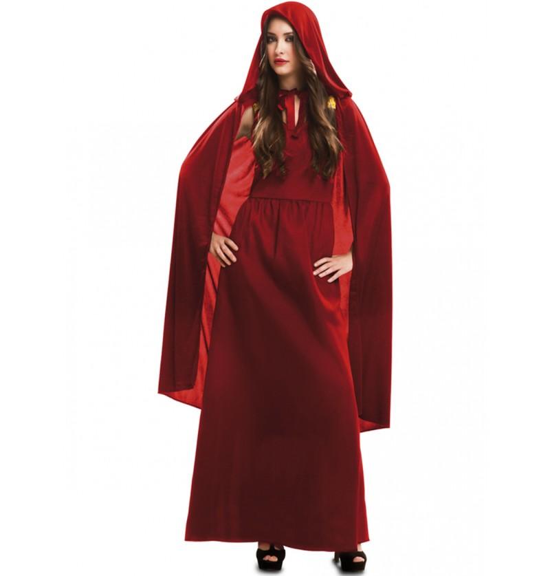 Disfraz de Hechicera roja para mujer