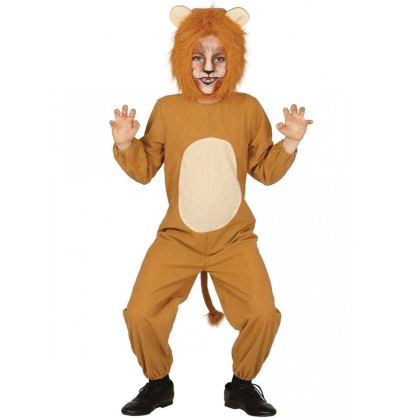 Disfraz de león valiente para niño