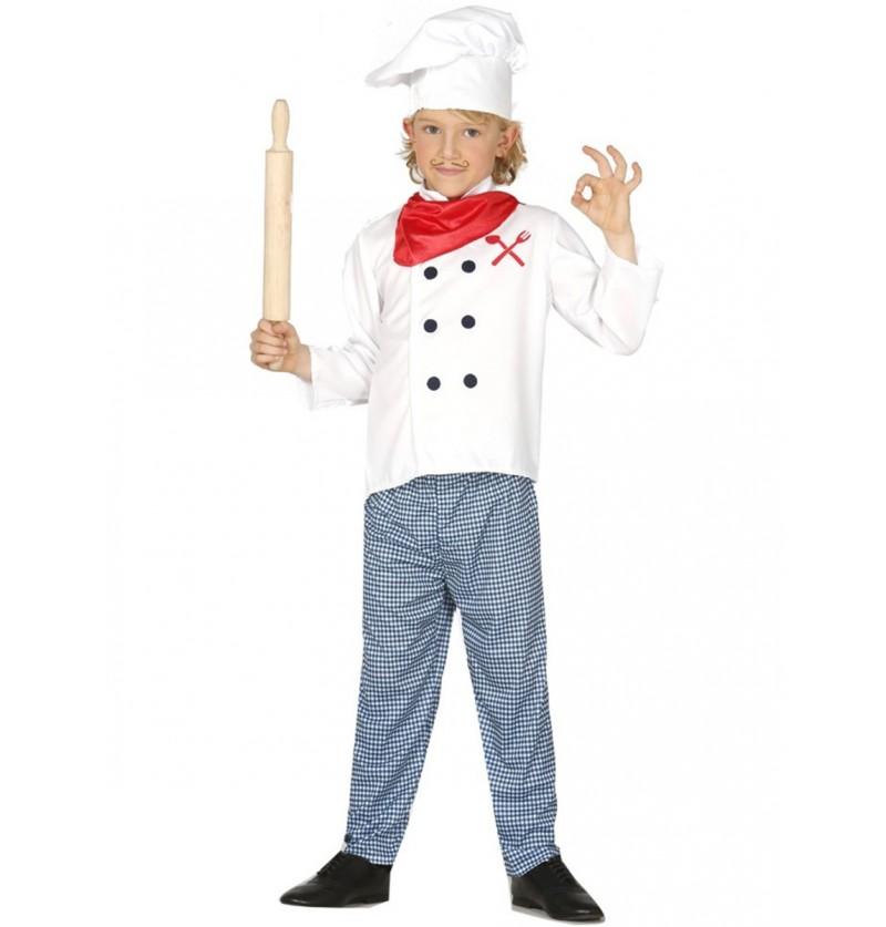 Disfraz de cocinero francés para niño