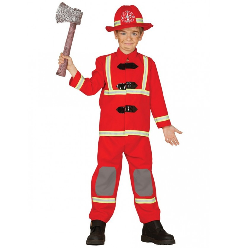 Disfraz de bombero valeroso para niño