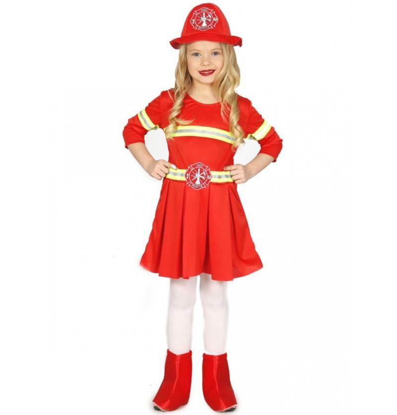 Disfraz de bombera elegante para niña