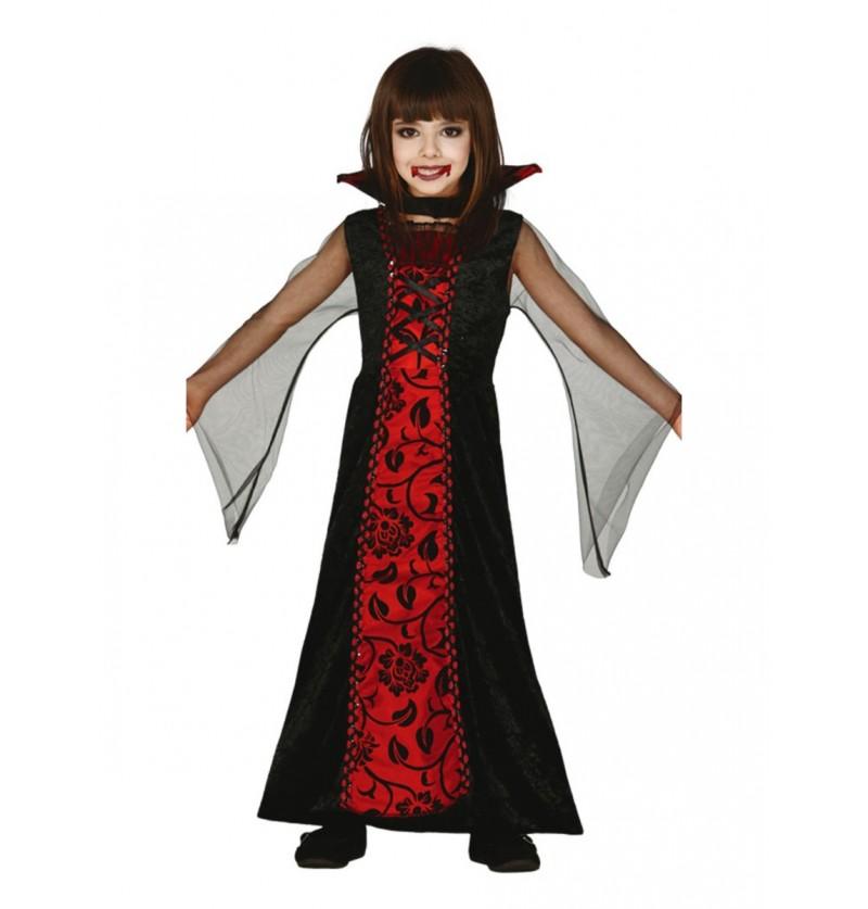 Disfraz de vampira gótica para niña