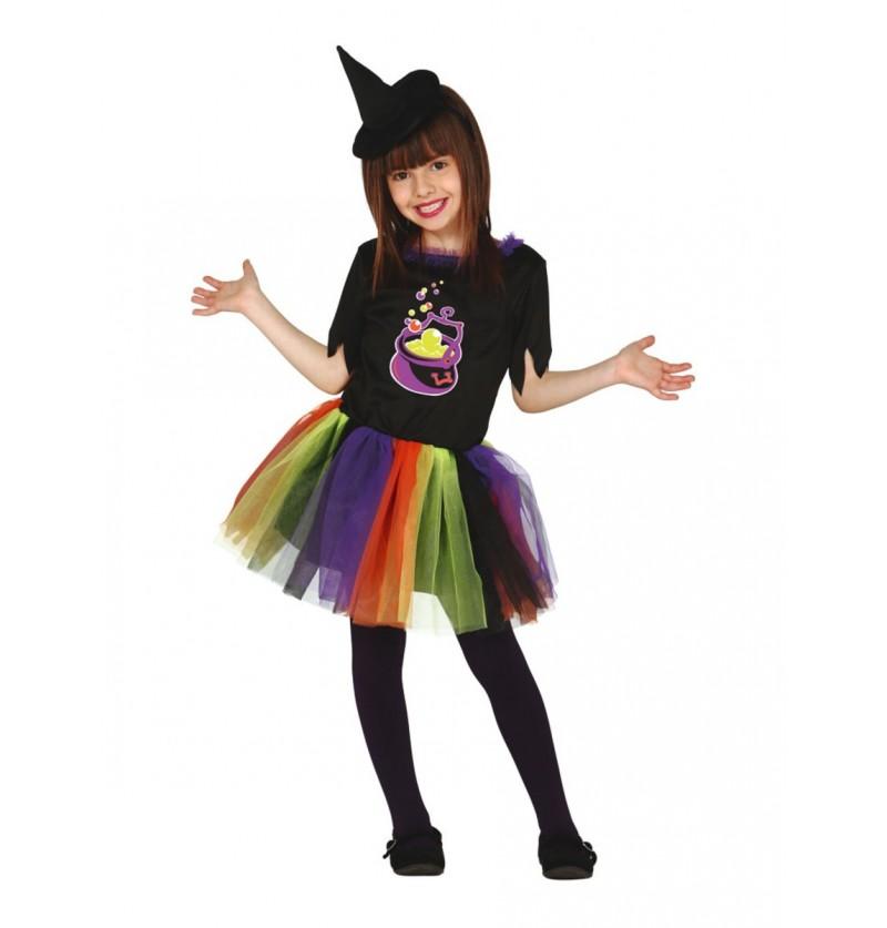 Disfraz de bruja tutú para niña