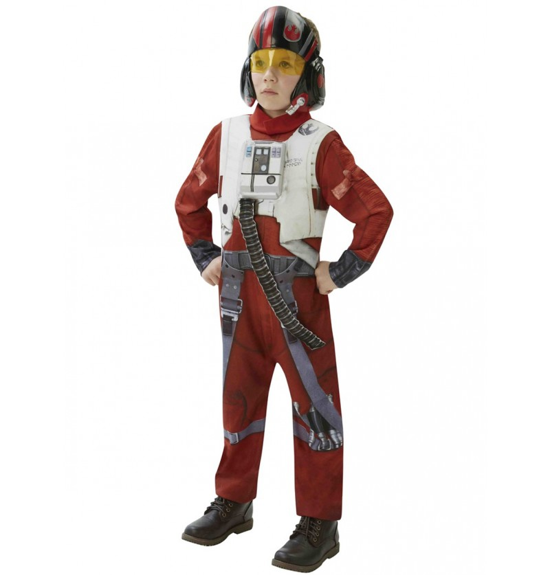 Disfraz de Piloto X-Wing Star Wars Episodio 7 deluxe para adolescente
