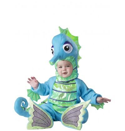 disfraz de caballito de mar brillante para beb
