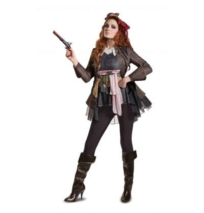 disfraz de jack sparrow la venganza de salazar deluxe para mujer