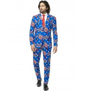 traje capitn amrica opposuit para hombre