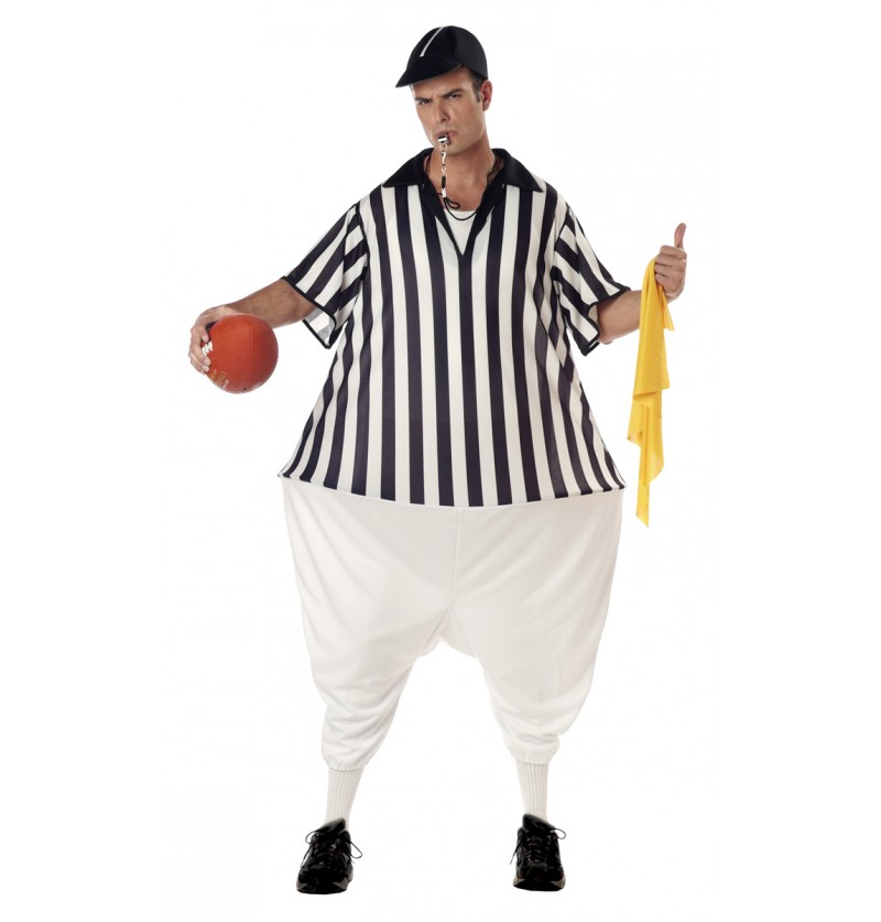Disfraz de árbitro de fútbol americano para hombre