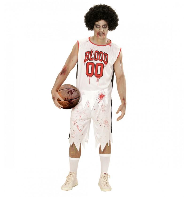 Disfraz de jugador de baloncesto zombie para hombre