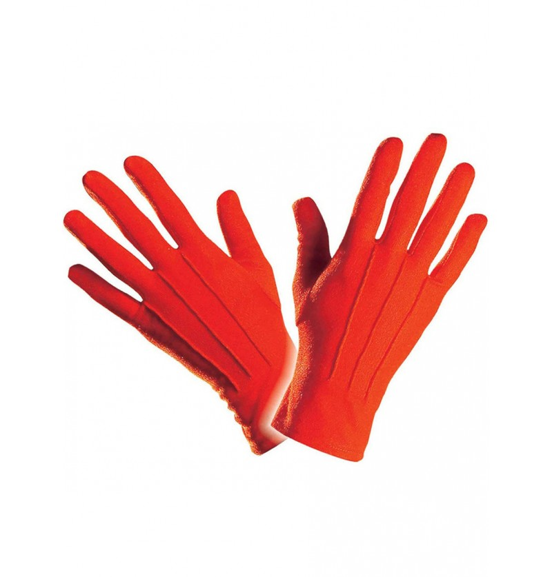Guantes simples de color rojo para hombre