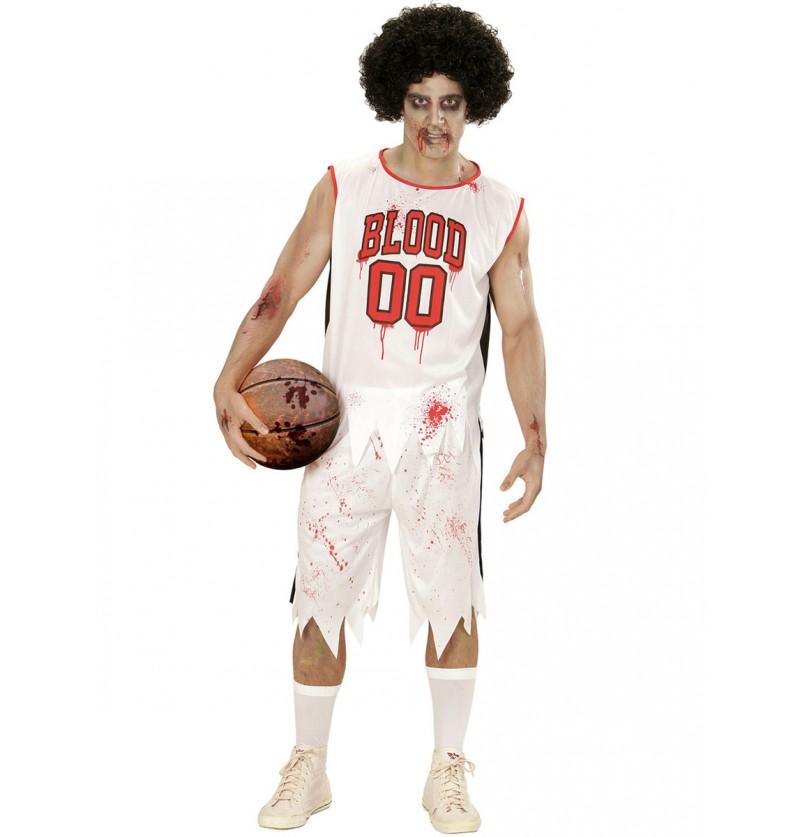 Disfraz de jugador de baloncesto zombie para hombre talla grande