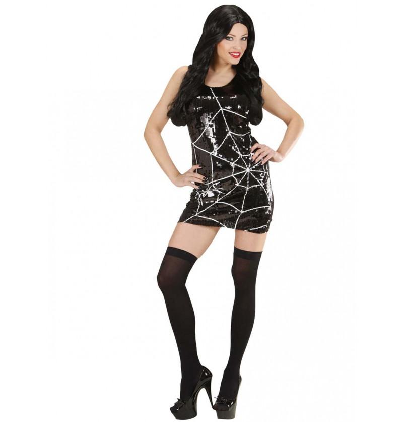 Vestido de telaraña de lujo para mujer