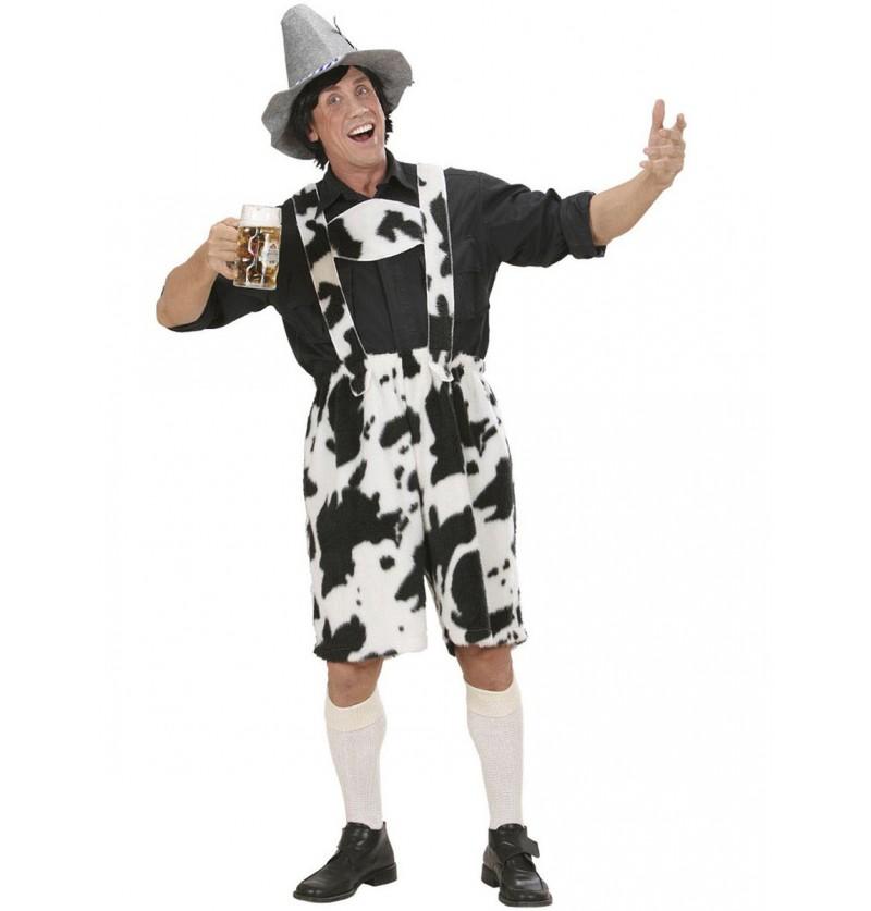 Disfraz Lederhosen de vaca para hombre