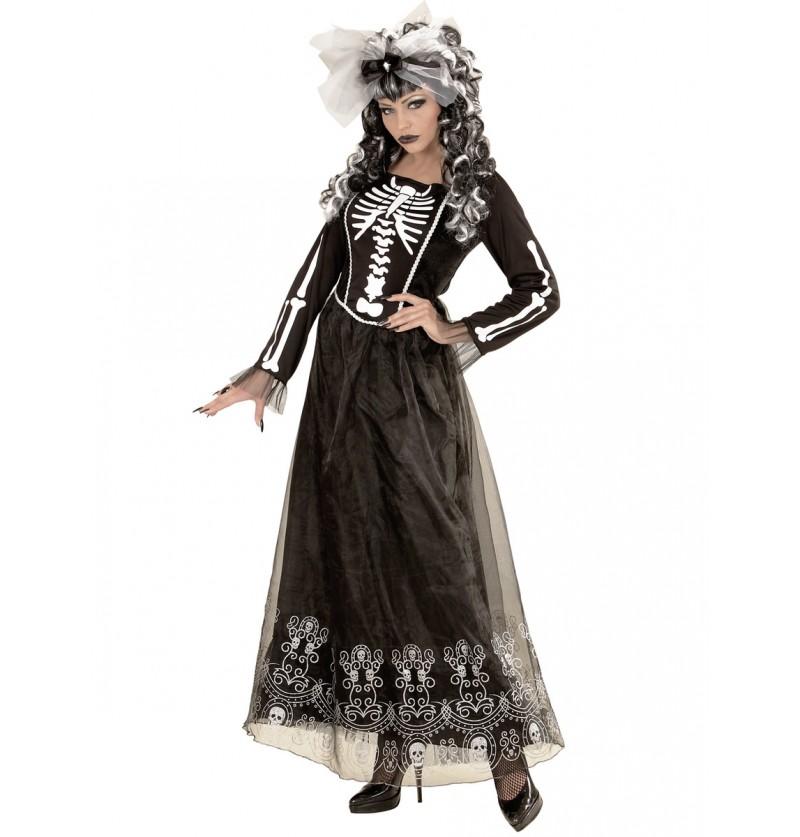 Disfraz de dama esqueleto para mujer talla grande