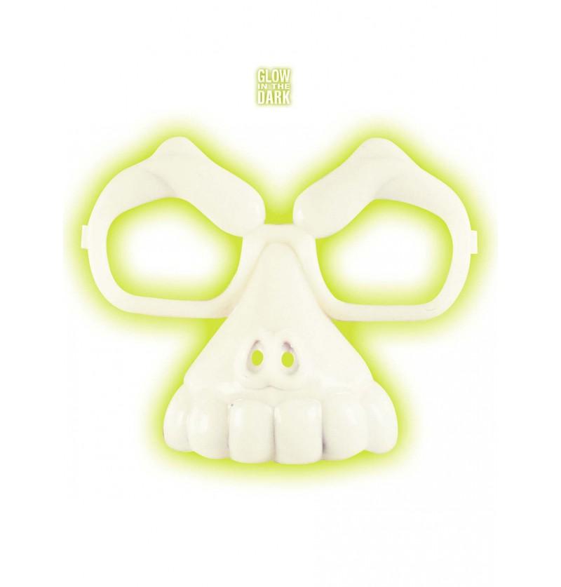 Gafas de calavera fluorescentes unisex