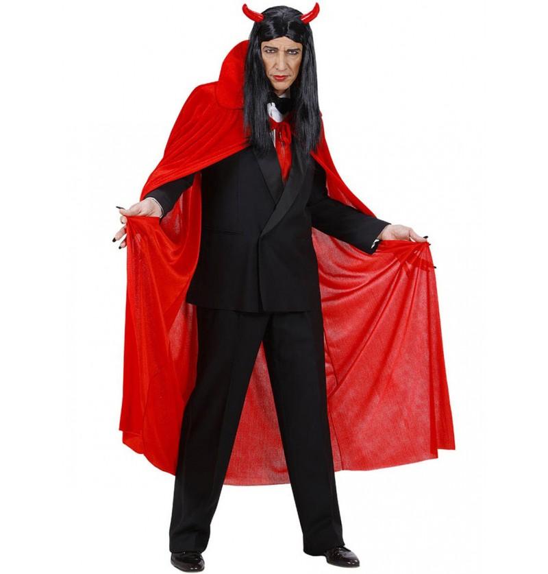 Capa roja de terciopelo para hombre