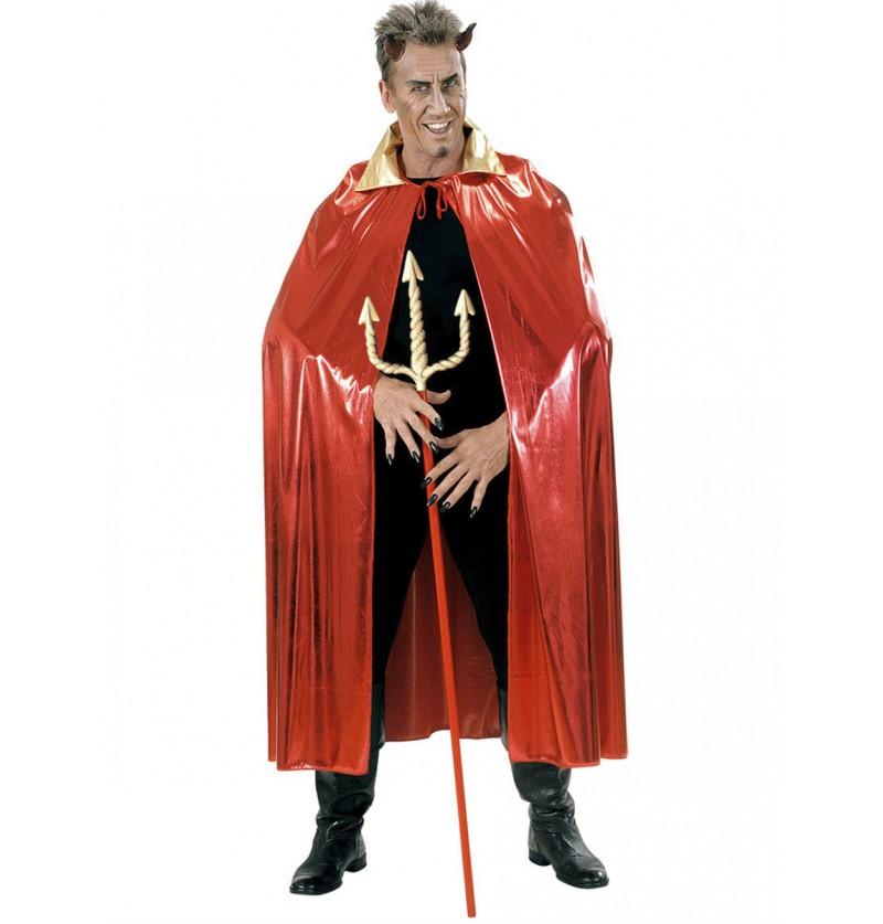Capa metalizada roja con cuello para hombre