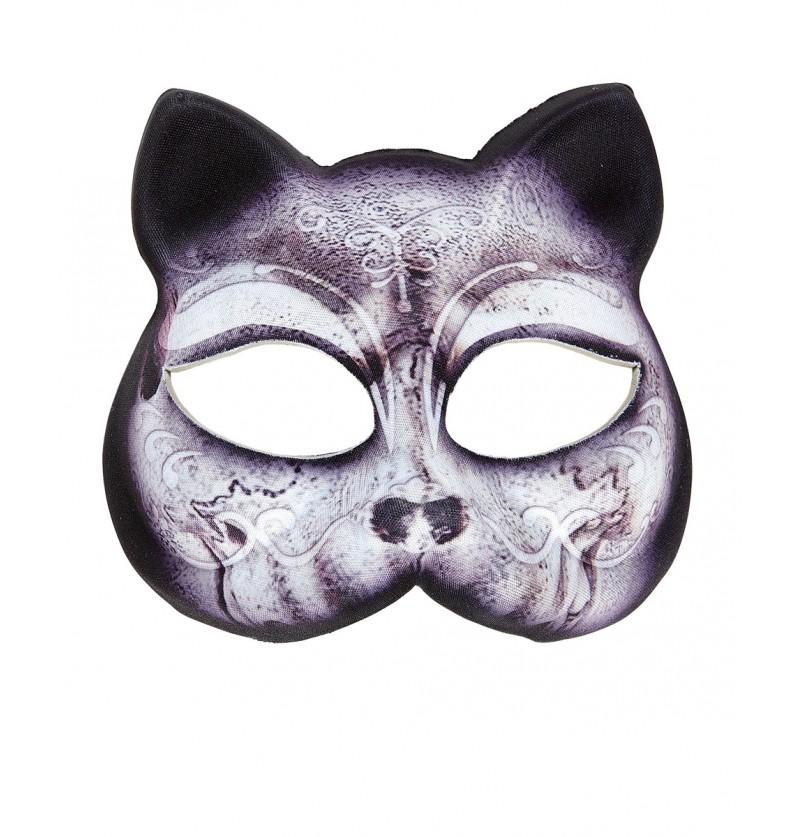 Máscara de gato sin mentón para mujer