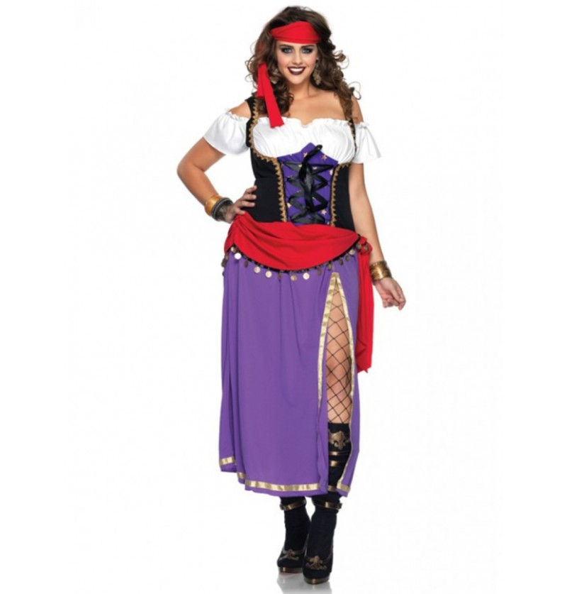 Disfraz de gitana cautivadora para mujer talla grande