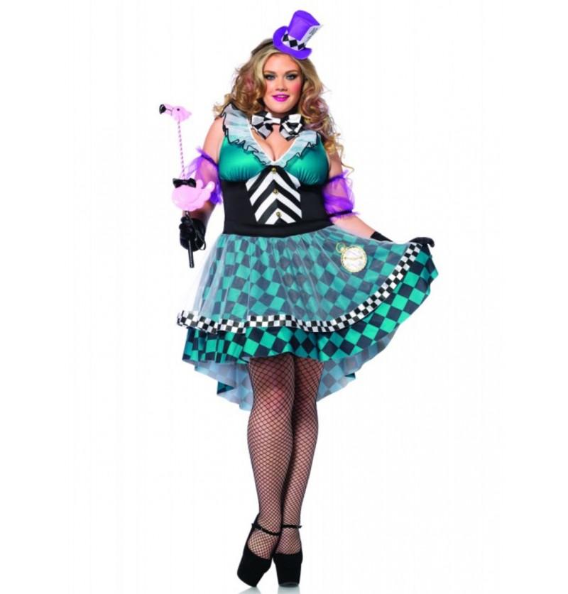 Disfraz de Sombrerera Loca para mujer talla grande