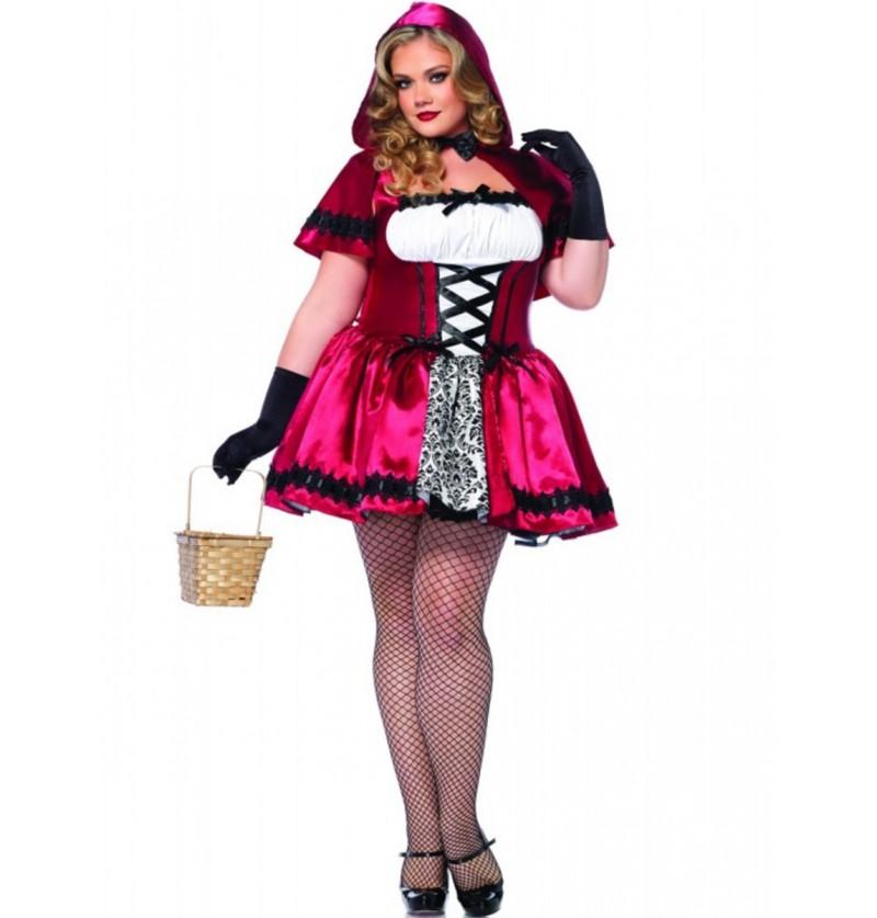 Disfraz de Caperucita encantadora para mujer talla grande