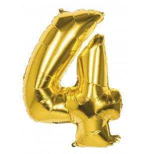 globo nmero 4 dorado 86 cm