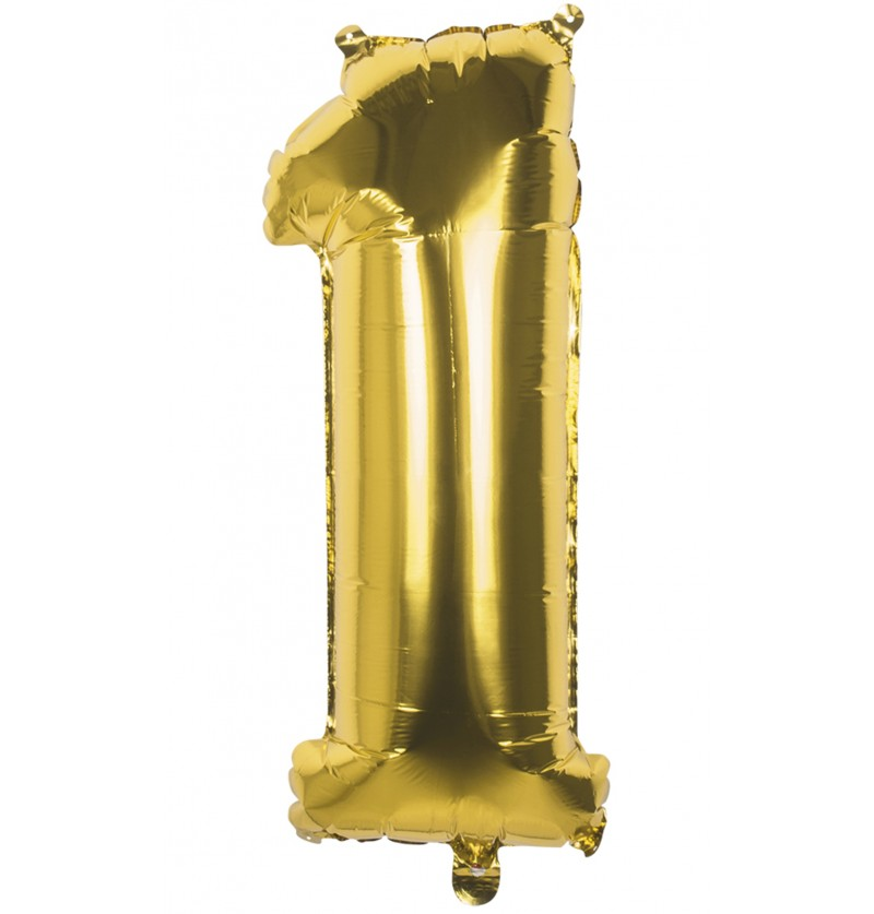 globo nmero 1 dorado 86 cm