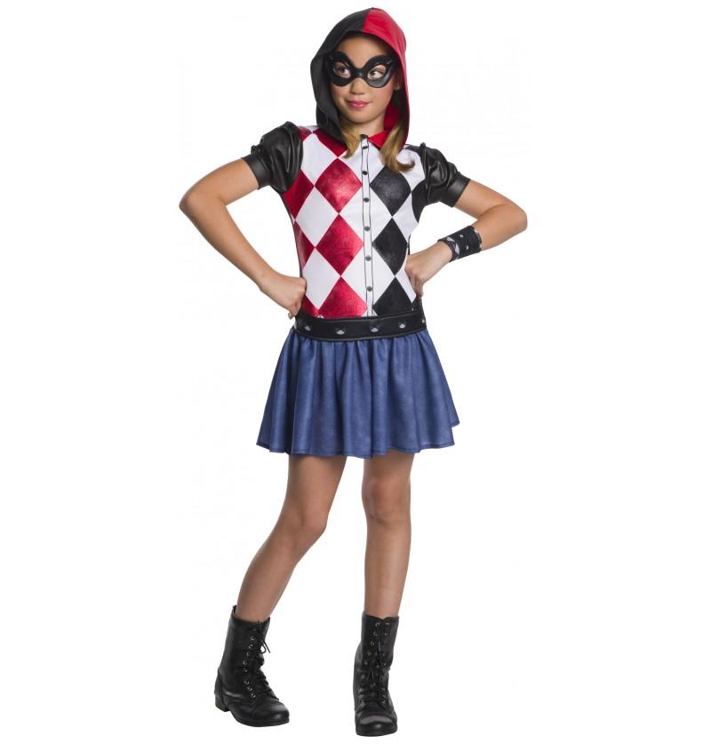 disfraz de harley quinn para nia dc superhero girls