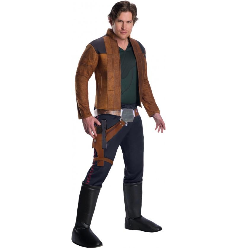 disfraz de han solo deluxe para hombre han solo una historia de star wars