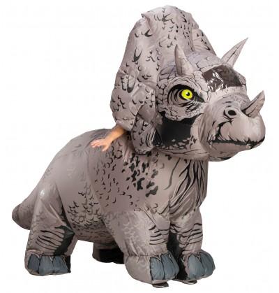 disfraz hinchable de triceratops para adulto jurassic world