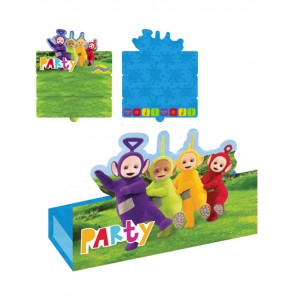 set de 8 invitaciones teletubbies