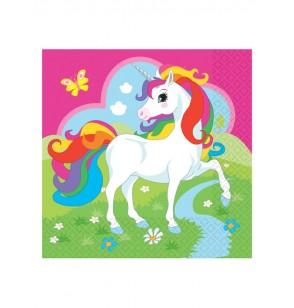 set de 20 servilletas unicornio