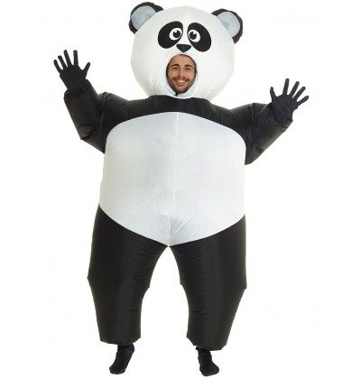 disfraz de oso panda hinchable para adulto