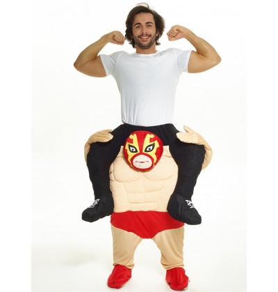 disfraz de soy el campen de la lucha libre carry me para adulto