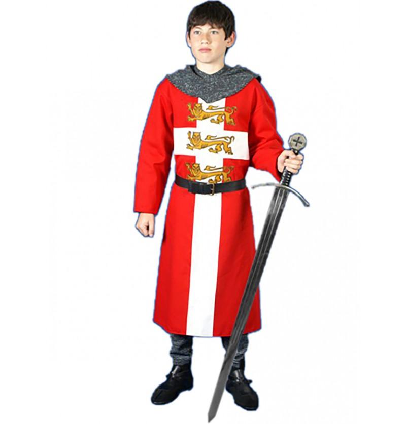 Tabardo medieval Corazón de león para adolescente