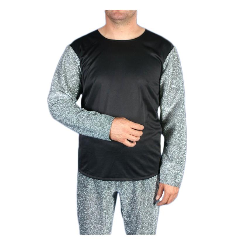 Camisa medieval de plata para hombre