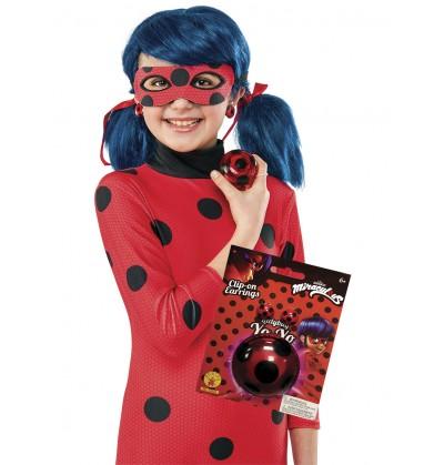 kit de ladybug con yo y y pendientes para nia