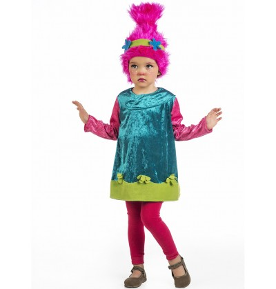 disfraz de troll rosa para beb