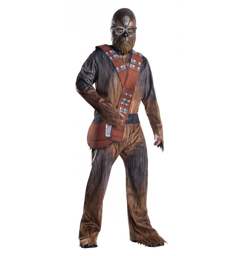 disfraz de chewbacca deluxe para hombre han solo una historia de star wars