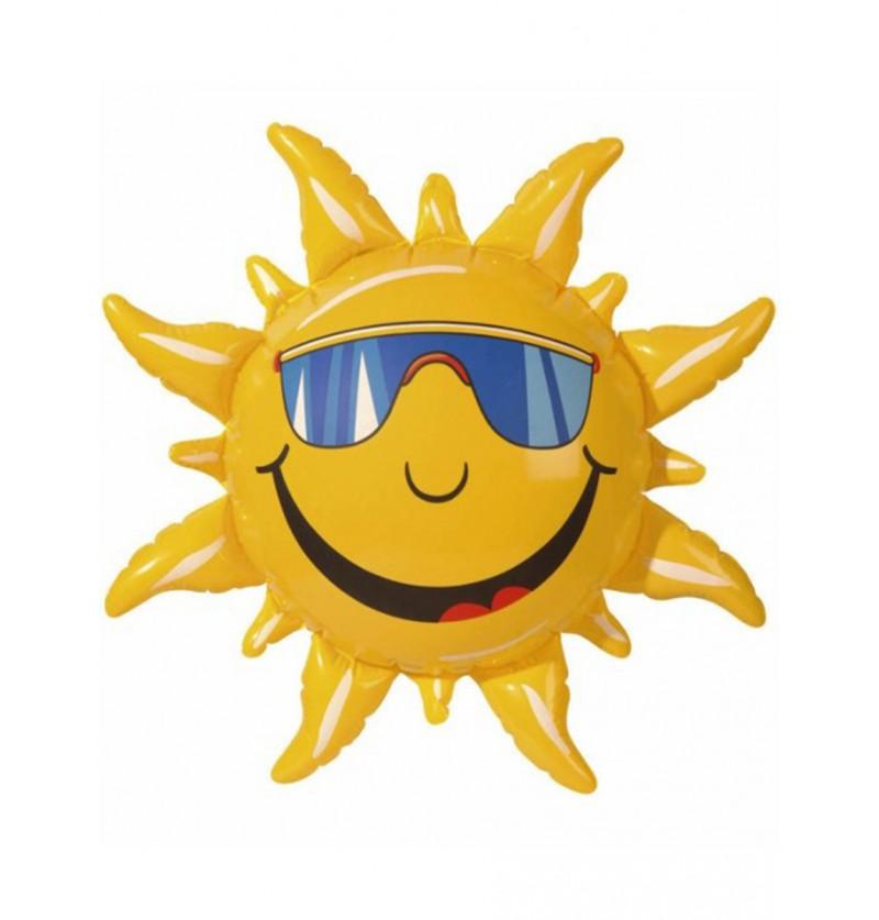 Sol hinchable sonriente