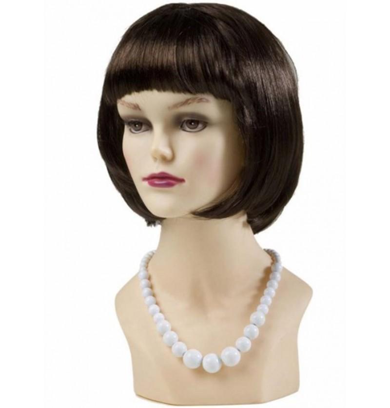 Collar de perlas asimétrico blanco