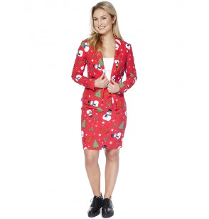 traje christmiss opposuit para mujer
