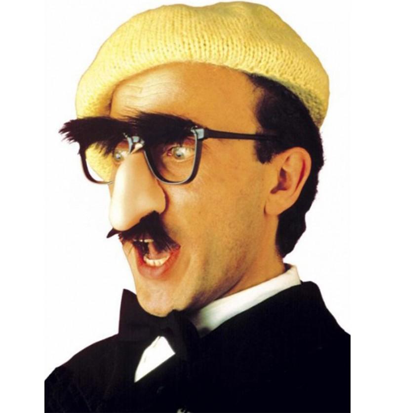 Gafas con nariz, bigote y cejas