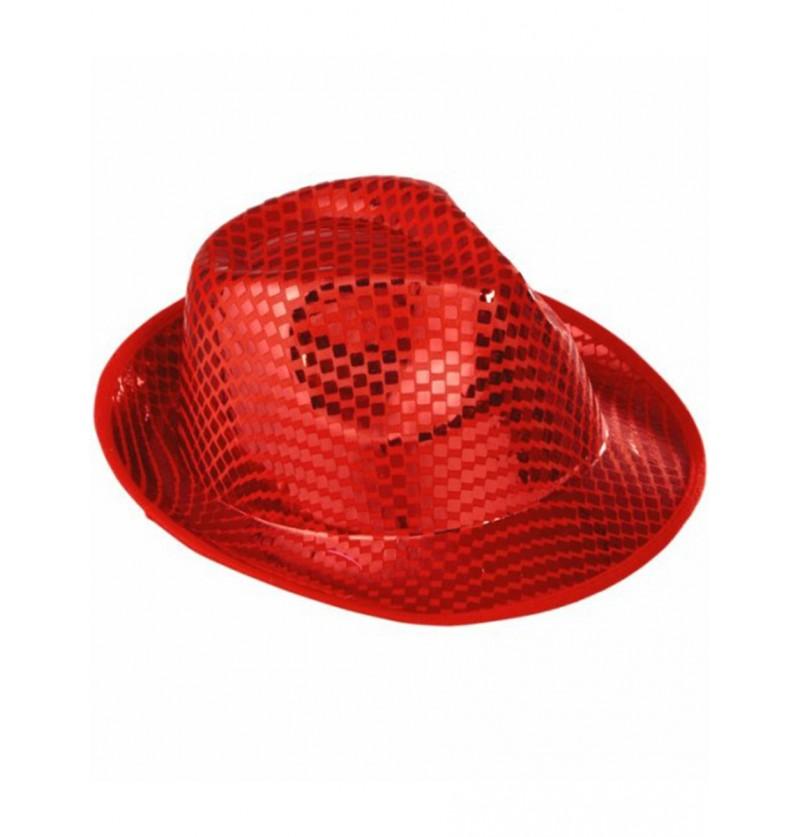 Sombrero de lentejuelas rojo