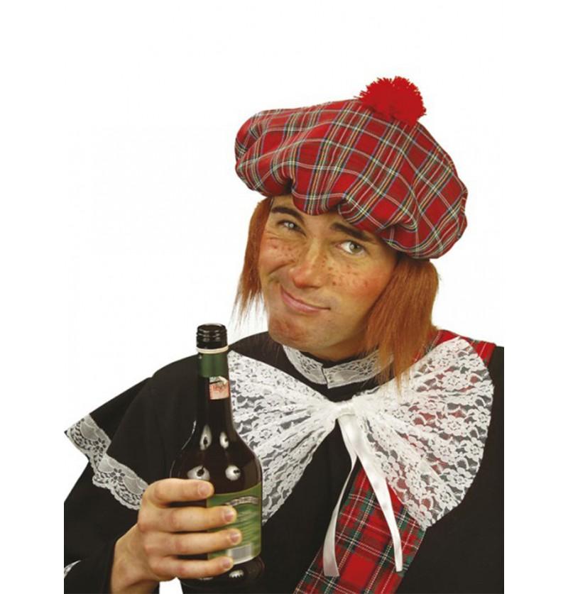 Sombrero de escocés con peluca