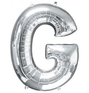 globo letra g plateado
