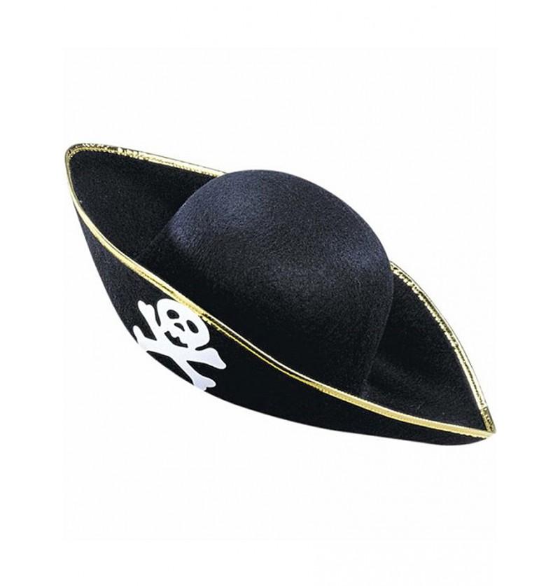 Sombrero de pirata blanca calavera